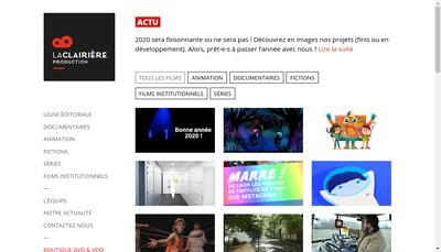Site internet de La Clairiere Production