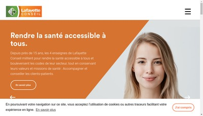Site internet de Lafayette Conseil