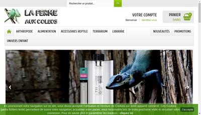 Site internet de La Ferme aux Coleos