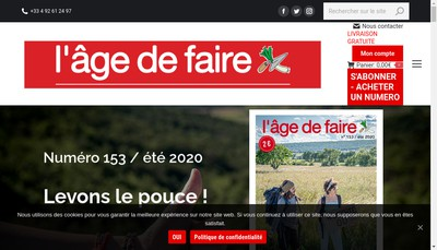 Site internet de L'Age de Faire -le Journal
