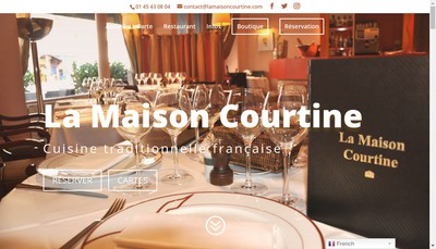 Site internet de La Maison Courtine