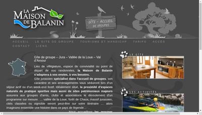 Site internet de La Maison de Balanin