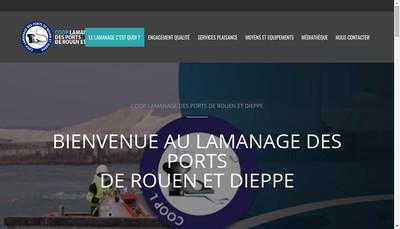Site internet de Cooper Maritim Servic Lamanag Port Rouen