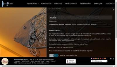 Site internet de La Maree
