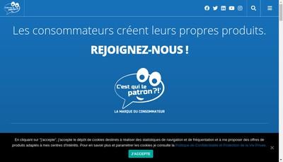 Site internet de C'Est Qui le Patron ?!