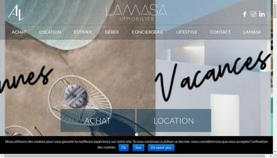 Site internet de Agence Lamasa
