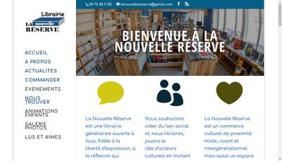 Site internet de La Nouvelle Reserve