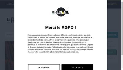 Site internet de La Reclame