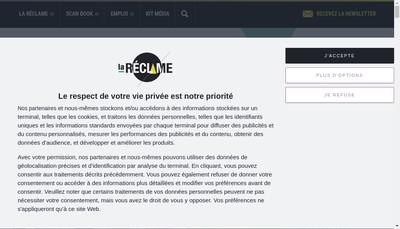 Site internet de La Reclame Cie