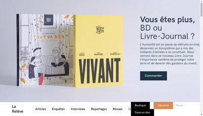 Site internet de La Releve et la Peste