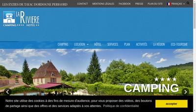 Site internet de Camping la Riviere