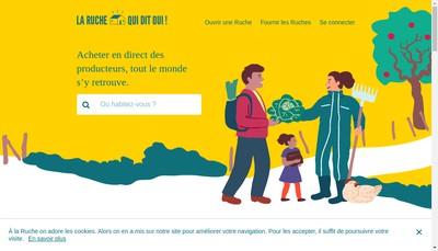 Site internet de La Ruche qui dit Oui !