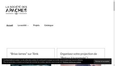 Site internet de La Societe des Apaches