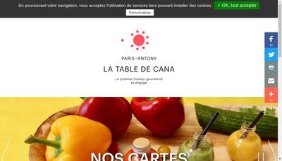 Site internet de La Table de Cana