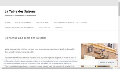 Site internet de La Table des Saisons