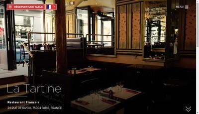 Site internet de La Tartine