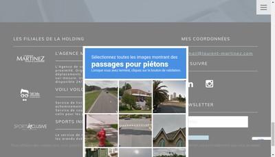 Site internet de Holding Financiere Martinez