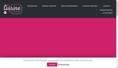 Site internet de La Cuisine de Mon Pere