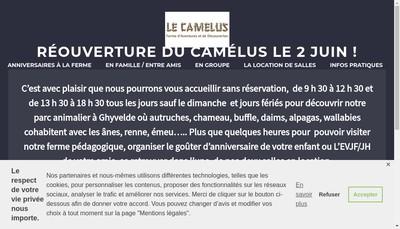 Site internet de Elevage d'Autruches le Camelus