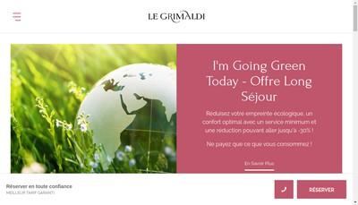 Site internet de Hoteliere Grimaldi