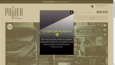 Site internet de Le Papier Fait de la Resistance