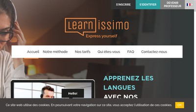 Site internet de Learnissimo