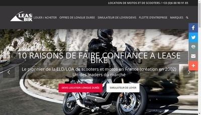 Site internet de Lease Bike France