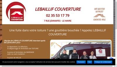 Site internet de SARL Lebaillif Couverture