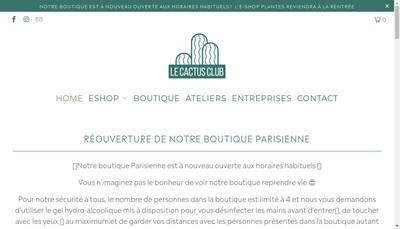 Site internet de Le Cactus Club