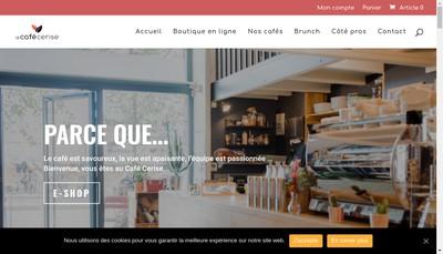 Site internet de Le Cafe Cerise