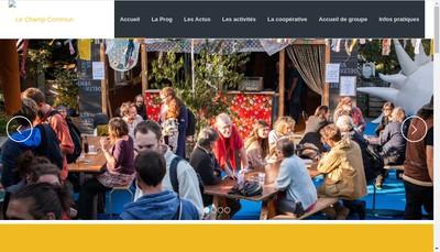 Site internet de Le Champ Commun