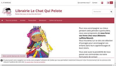 Site internet de Le Chat Qui Pelote