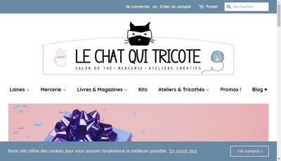Site internet de Le Chat Qui Tricote