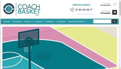 Site internet de Le Coach Basket