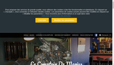 Site internet de Le Comptoir de Marius