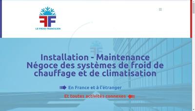 Site internet de Le Froid Francilien