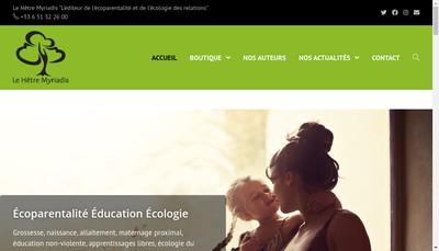 Site internet de Editions le Hetre Myriadis