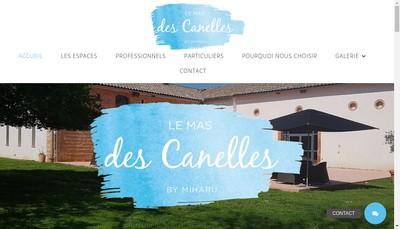 Site internet de Le Mas des Canelles