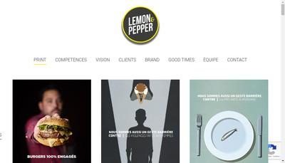 Site internet de Lemon & Pepper