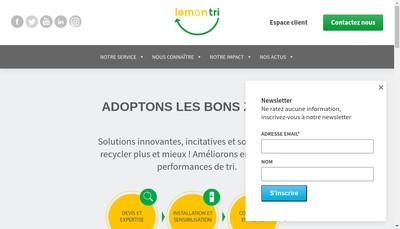 Site internet de Lemon Tri