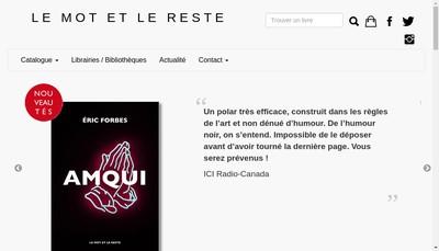 Site internet de Le Mot et le Reste