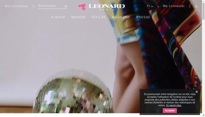 Site internet de Leonard Fashion