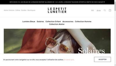 Site internet de Le Petit Lunetier Paris