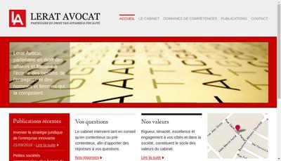 Site internet de Lerat Avocat