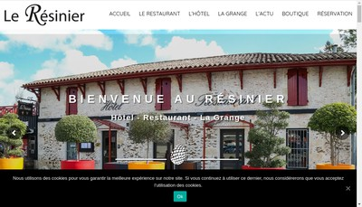 Site internet de Restaurant le Resinier