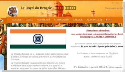 Site internet de Le Royal du Bengale