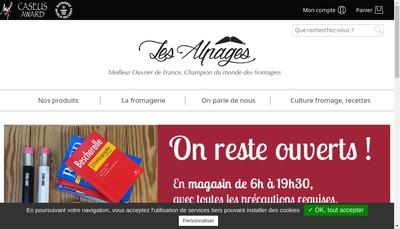 Site internet de Fromagerie les Alpages