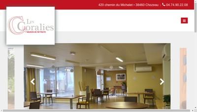 Site internet de Les Coralies