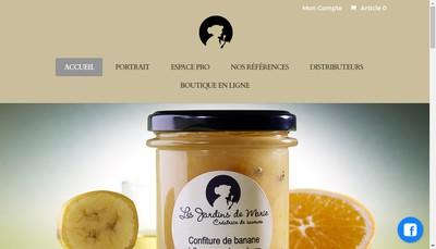 Site internet de Les Jardins de Marie