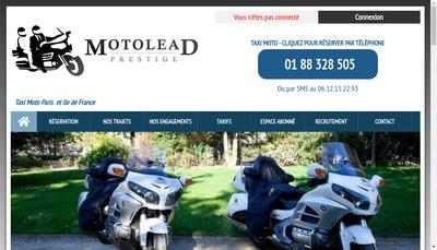 Site internet de Motolead Prestige